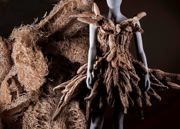 luffa dress, Agnes van Dijk fasionart, modekunst, modecapriole, fashion, mode, Eindhoven, the netherlands, nederland