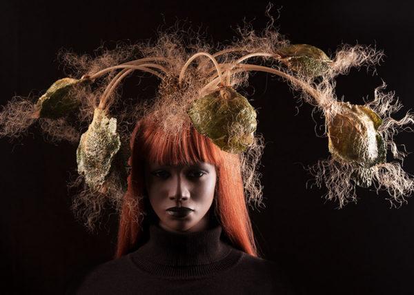 Agnes van Dijk fasionart, modekunst, modecapriole, fashion, mode, Eindhoven, the netherlands, nederland, Hair & Cole headpiece