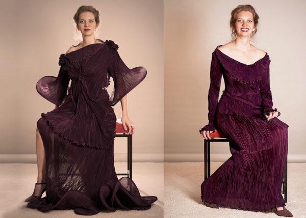 Please plisse Agnes van Dijk fasionart, modekunst, modecapriole, fashion, mode, Eindhoven, the netherlands, nederland
