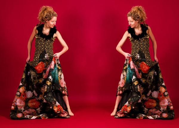 Floral cut Agnes van Dijk fasionart, modekunst, modecapriole, fashion, mode, Eindhoven, the netherlands, nederland