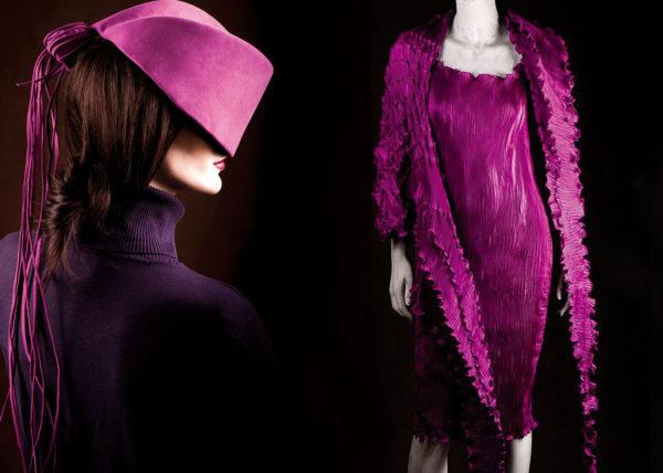 Fucksia Plisse Agnes van Dijk fasionart, modekunst, modecapriole, fashion, mode, Eindhoven, the netherlands, nederland