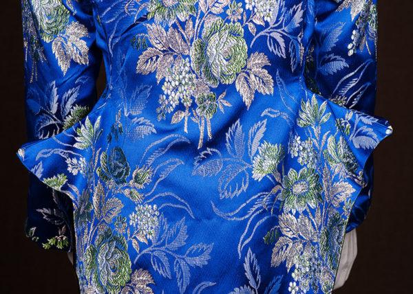 Blue Gobelin jacket Agnes van Dijk fasionart, modekunst, modecapriole, fashion, mode, Eindhoven, the netherlands, nederland