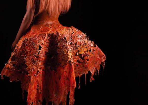 Agnes van Dijk fasionart, modekunst, modecapriole, fashion, mode, Eindhoven, the netherlands, nederland, Cellulite mandarin dress II