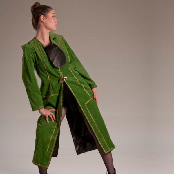 Agnes van Dijk fasionart, modekunst, Coat, Code green, Eindhoven the netherlands, nederland