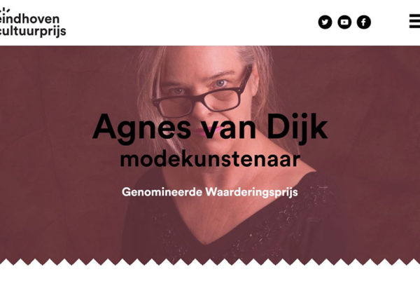 cultuurprijs eindhoven Agnes van Dijk nominatie