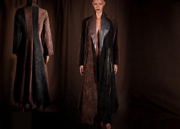 Bruine suede mantel | Agnes van Dijk - Modekunstenaar, Mode / Fashion 2020