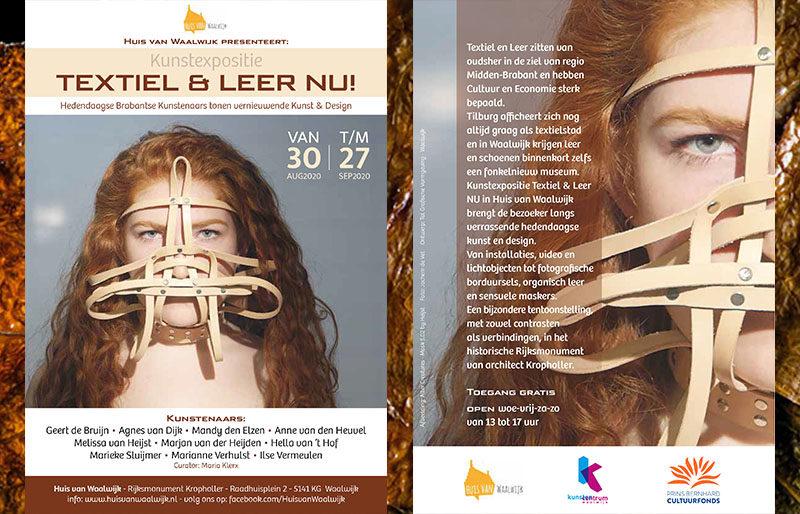 Agnes van Dijk modekunst eindhoven - Kunstexpositie TEXTIEL & LEER NU! - Huis van Waalwijk