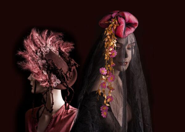 Agnes van Dijk modekunst rose hats