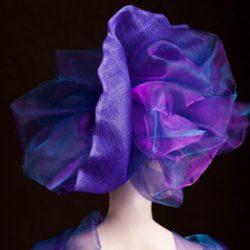 Agnes van Dijk fasionart, modekunst, Hat, purple organza, Eindhoven the netherlands, nederland