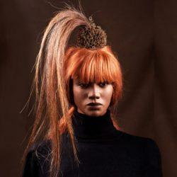 Agnes van Dijk fasionart, modekunst, Headpiece horsehair, Eindhoven the netherlands, nederland